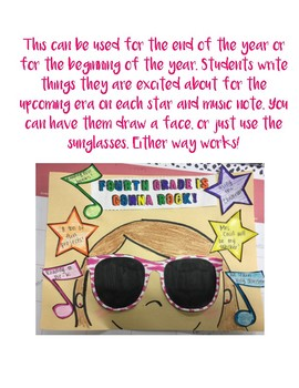 End of the Year Rock Star Craftivity