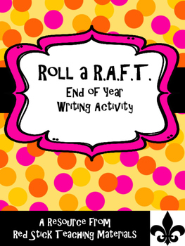 End of the Year Roll a R.A.F.T writing prompt generator