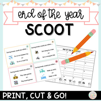 End of the Year SCOOT for Older Kids