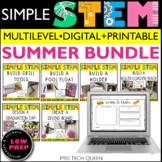 End of the Year Summer STEM/STEAM BUNDLE - 6 challenges