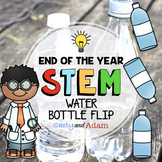 End of the Year Water Bottle Flipping STEM Challenges