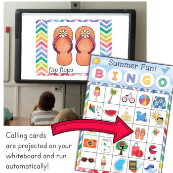 End of the Year SUMMER Bingo Game for Powerpoint