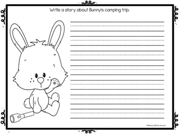 End of the Year SUMMER Writing Prompts   PreK-1