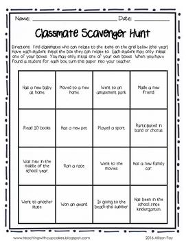 3rd Grade Outdoor Scavenger Hunt