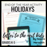 End of the Year School Activity | Letter to the Next Kids