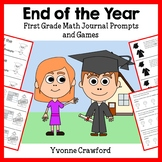 End of the Year Math Journal Prompts (kindergarten & 1st grade)