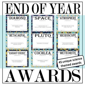 End of the Year Science Awards
