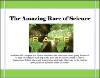 The Amazing Race of Science BUNDLE: End of the Year Science Game