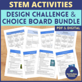 End of the Year Science Project Choice Board and STEM Acti