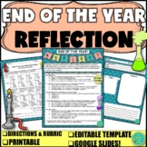END of the YEAR SCIENCE REFLECTION PROJECT (Digital & Printable)