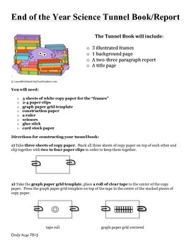 End of the Year Science Project-Science, Writing, & Art-Tunnel Book