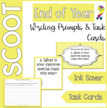 End of the Year Scoot What have you learned? Task Cards/Writing Prompts