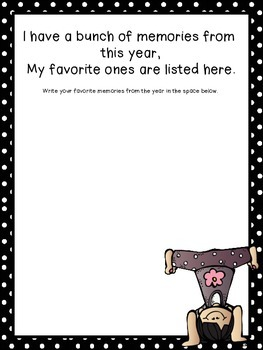 End of the Year Scrapbook Project