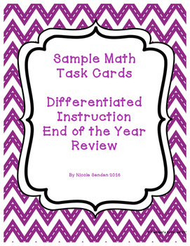 Second Grade Math Review Differentiated FOUR levels Task C