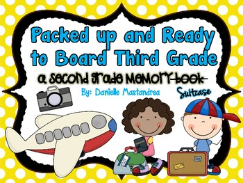 End of the Year Second Grade Memory Book / Suitcase {& CRA