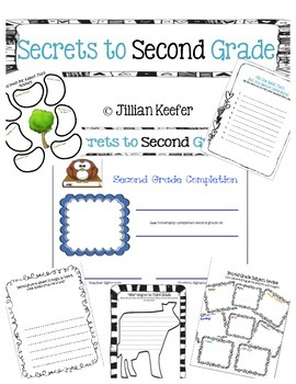 End of the Year: Secrets to Second Grade Activity Book