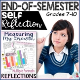 End of Semester & Growth Mindset Self-Reflection Differentiated Task Cards
