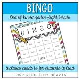 End of the Year - Sight Word Bingo - Kindergarten