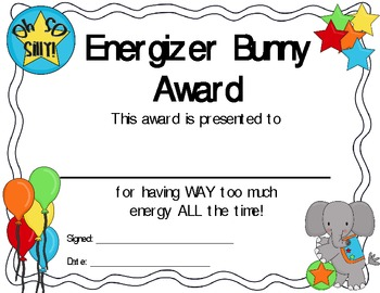 End Of The Year Quot Silly Quot Awards By Carrie S Creations Tpt