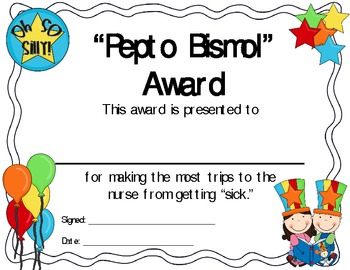 end of the year silly awards by carrie s creations tpt
