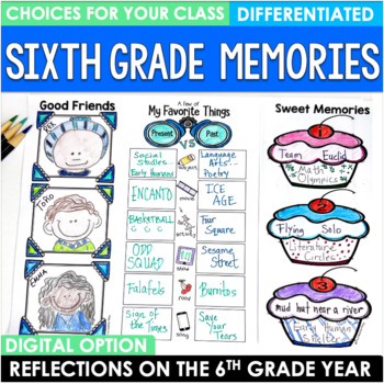 End of the Year Bundle Sixth Grade Brochures