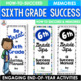 End of the Year Activity Bundle Sixth Grade Brochures