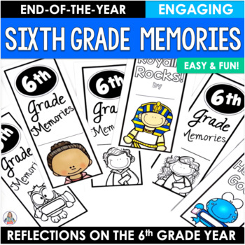 End of the Year Activity Sixth Grade Memories Brochure