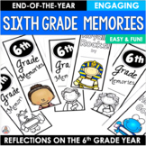 End of the Year Activity Sixth Grade Memories