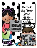 End of the Year Sixth Grade Newspaper Activity