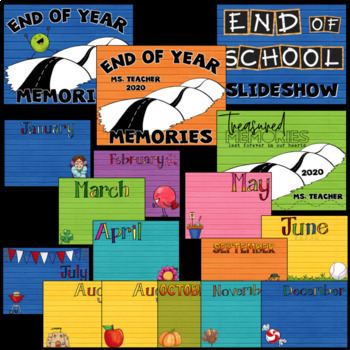 End of the Year Slide Show (Editable)