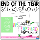End of the Year Slideshow Template   Editable   for PowerP