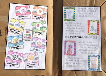 End of the Year Snapshots of a School Year Memory Book