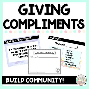 Social Skills Activity Giving Compliments