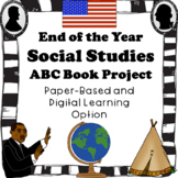 End of the Year Social Studies ABC book project