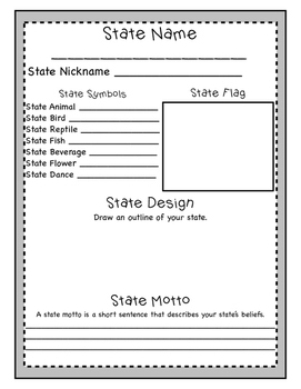 End or Beginning of the Year Social Studies Activity: Designing a New State