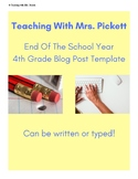 End of the Year Blog Post & Social Media Promotion Activity