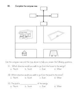 End of the Year Social Studies Test for 1st Grade