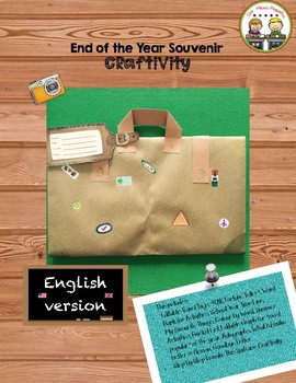 """End of the Year Craftivity """"Souvenir"""" English Version"""