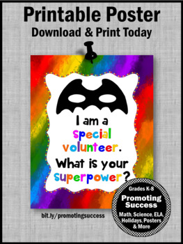 End of the Year Special Volunteer Appreciation Gift, Superpower Sign