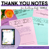 Thank You Notes for Staff   Teacher Appreciation   End of Year Gift BUNDLE
