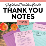Thank You Notes for Staff   Teacher Appreciation   End of