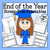 End of the Year NO PREP Printables - Second Grade Distance Learning