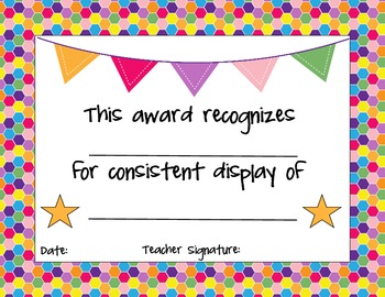 End of the Year Student Award Templates