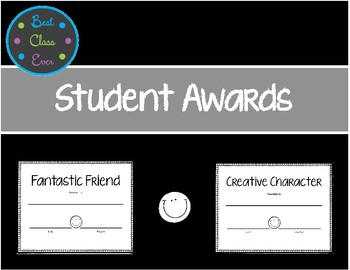 End of the Year Student Awards Certificates Freebie