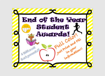 End of the Year Student Awards