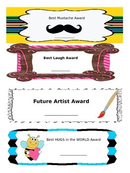 Student Awards (Editable)