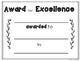 End of the Year Student Awards Template