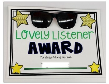 End of the Year Student Awards and Gifts: Editable Certificates