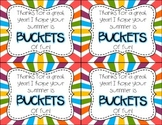 End of the Year Student Bucket Tags