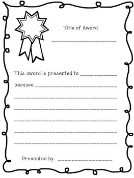 End of the Year Student Created Awards